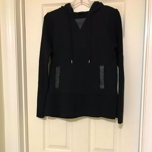 Club Monaco Hooded Top with leather detail